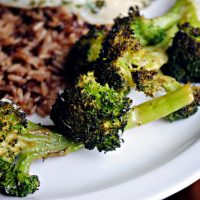 Roasted Broccoli with Lemon, Chili-Garlic Oil & Parmesan