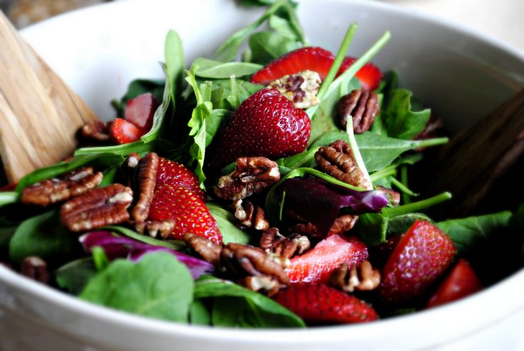 Sister Night Strawberry Spinach Salad & Poppy Seed Vinaigrette