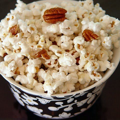 Honey Butter Popcorn with Toasted Pecans