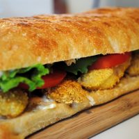 Tasty Fish Sandwich with Homemade Tartar Sauce
