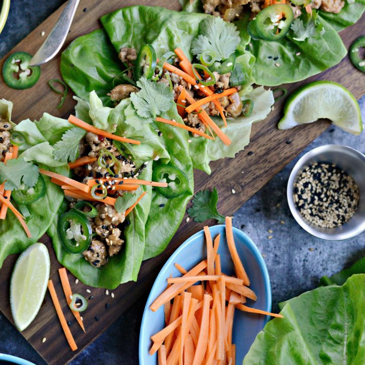 Saucy Pork Lettuce Wraps