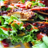 Grilled Ancho Chicken Taco Salad