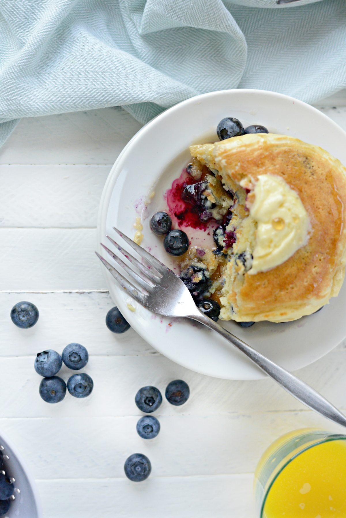 Lemon Bluebery Pancakes l SimplyScratch.com