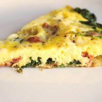 Cheesy Spinach & Bacon Frittata