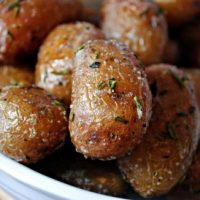 Whole Roasted Garlic Rosemary Potatoes