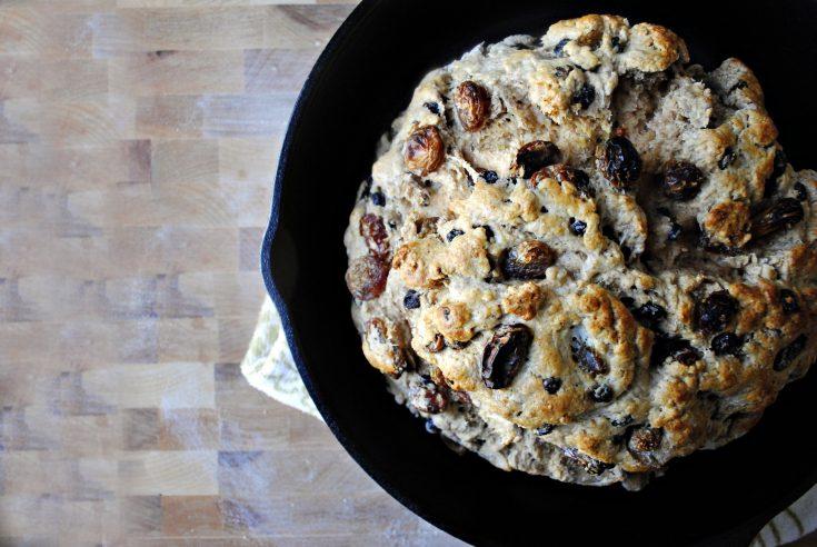Golden Raisin and Currant Irish Brown Bread (Wheaten Bread)