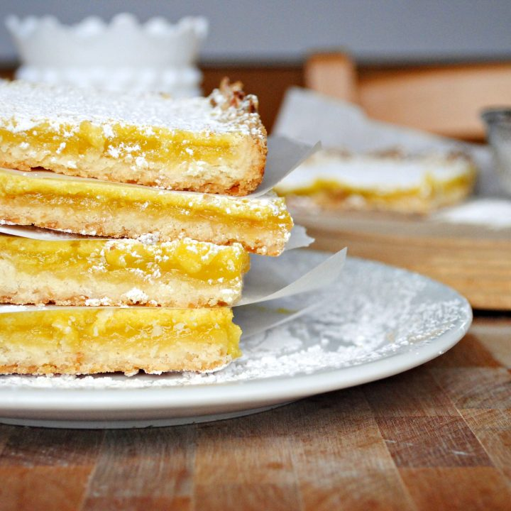 Lemongrass Squares with Coconut Shortbread Crust