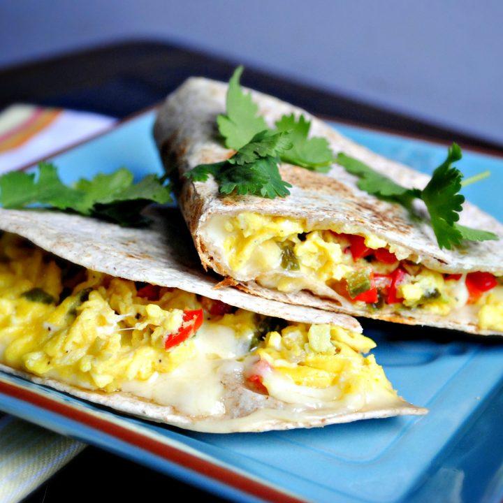 Spicy Breakfast Quesadilla
