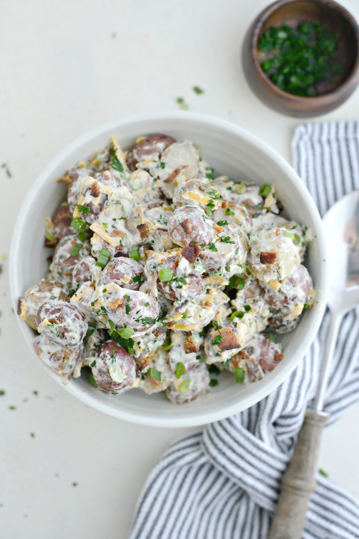 Bacon Cheddar Ranch Potato Salad l SimplyScratch.com (11)
