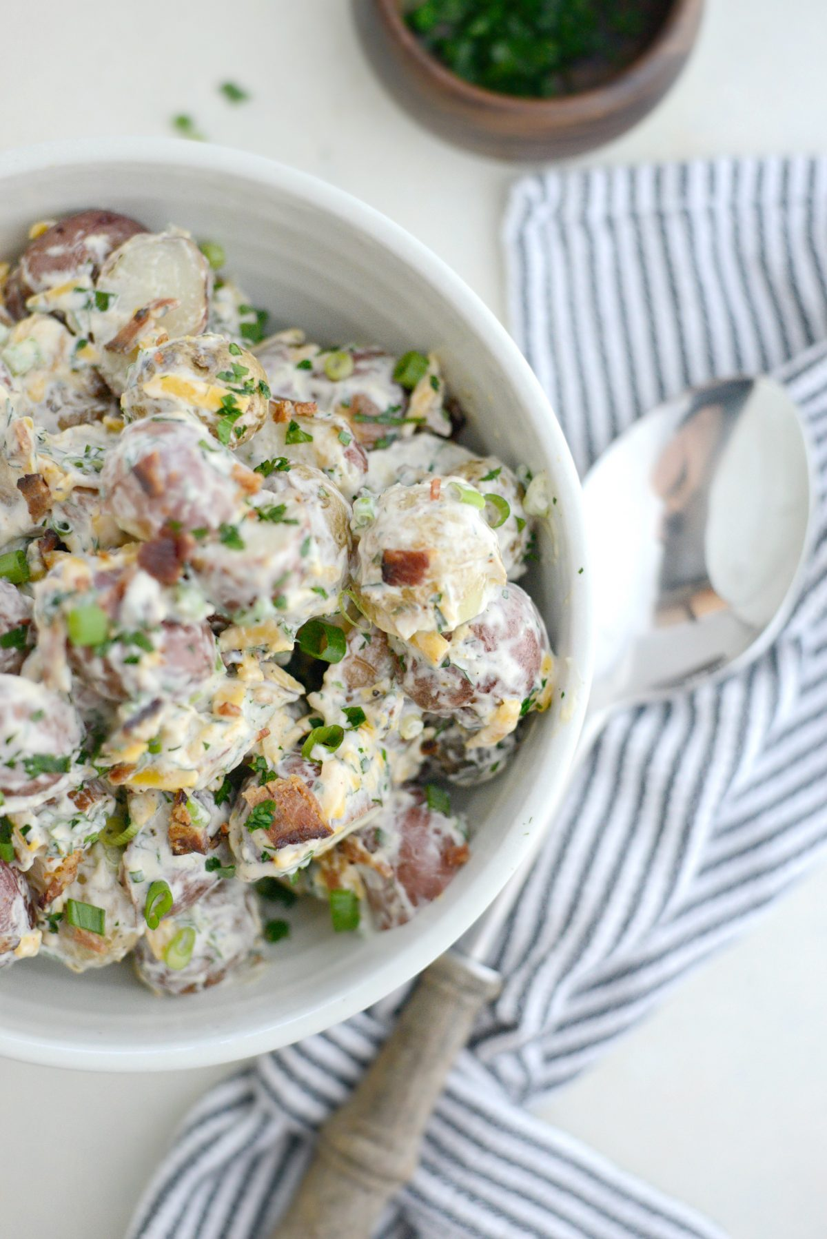 Bacon Cheddar Ranch Potato Salad l SimplyScratch.com (14)