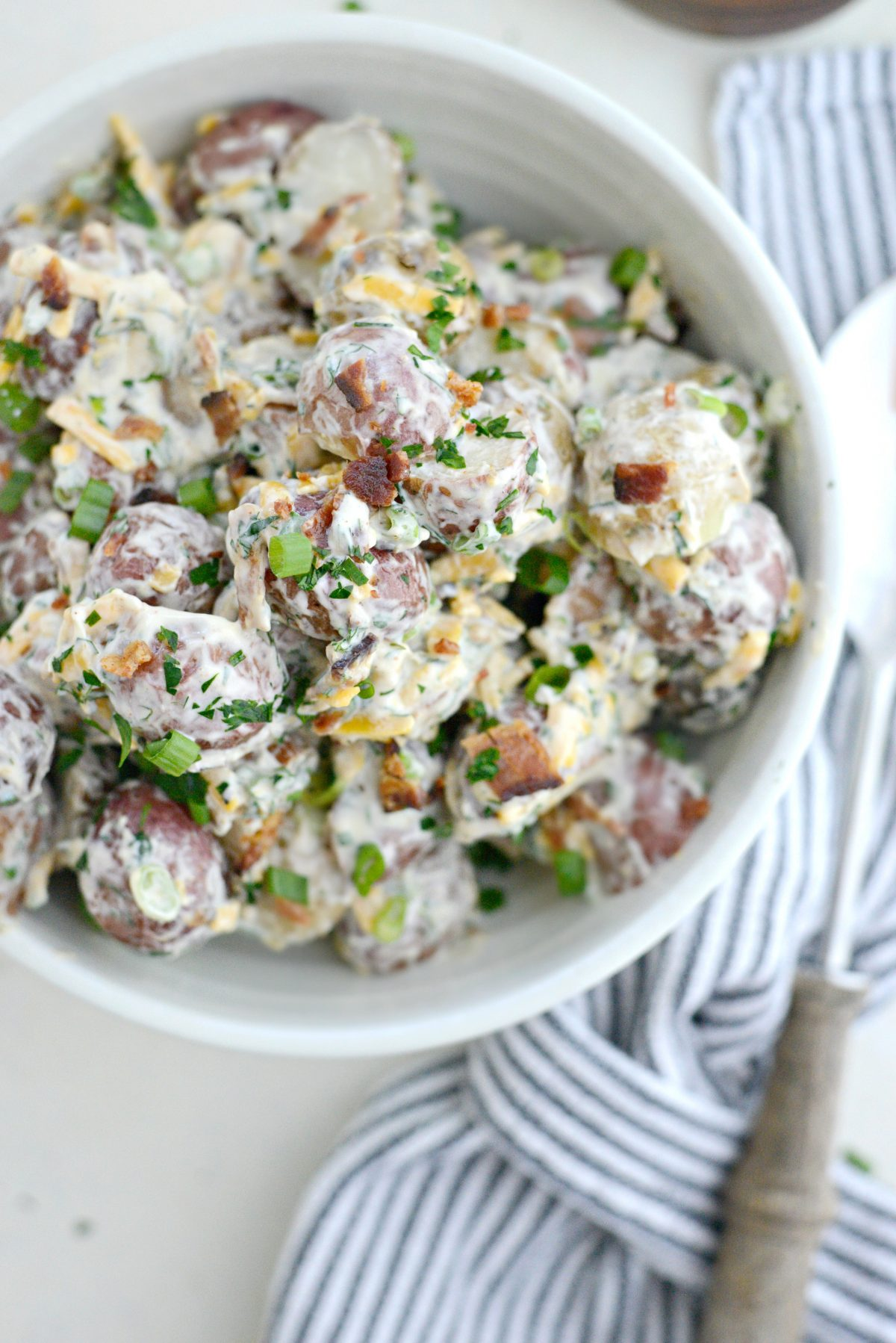 Bacon Cheddar Ranch Potato Salad l SimplyScratch.com (15)