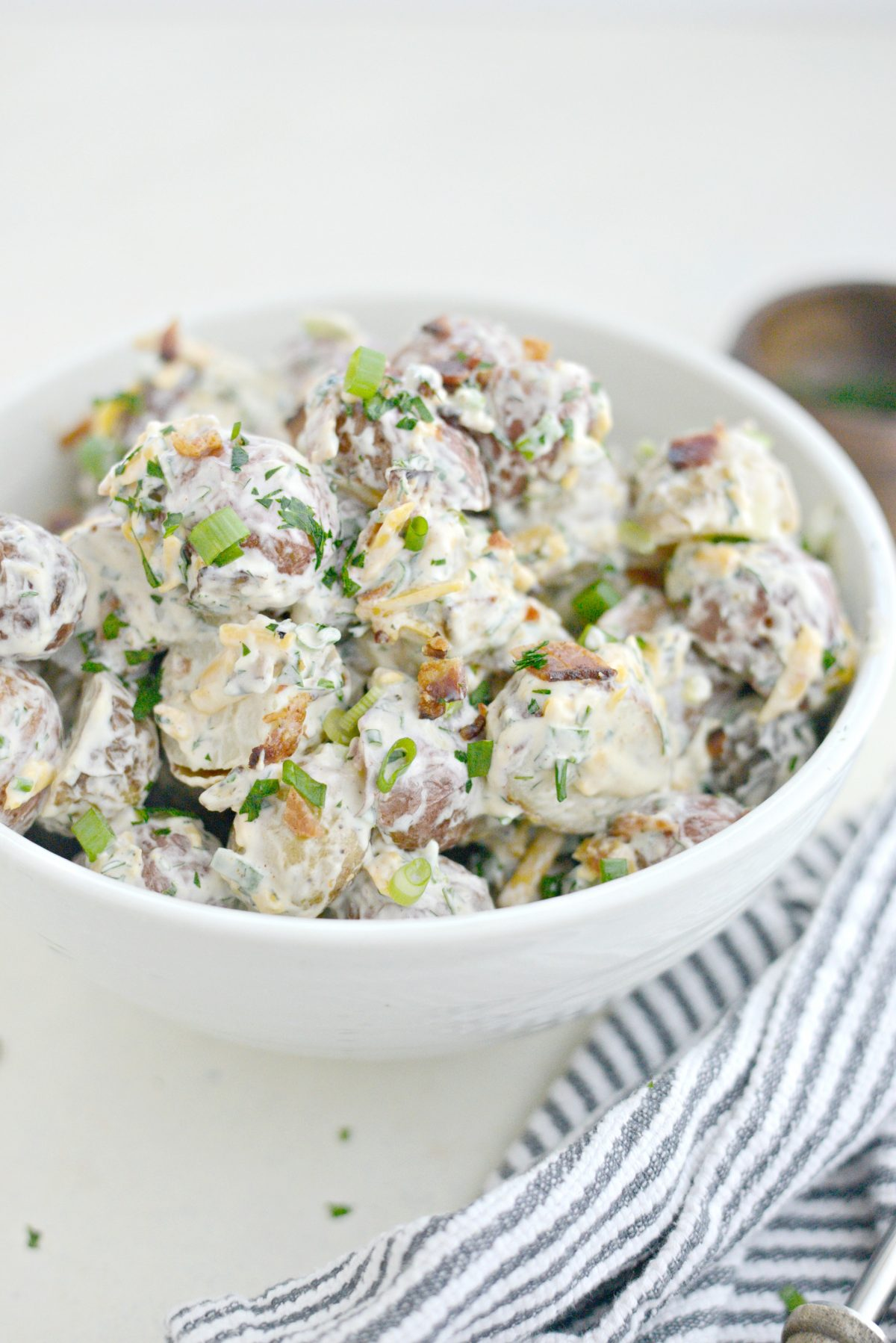 Bacon Cheddar Ranch Potato Salad l SimplyScratch.com (9)