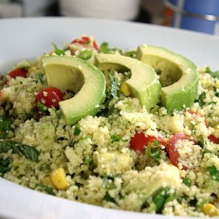 Couscous Summer Salad Tossed in a Lime Vinaigrette