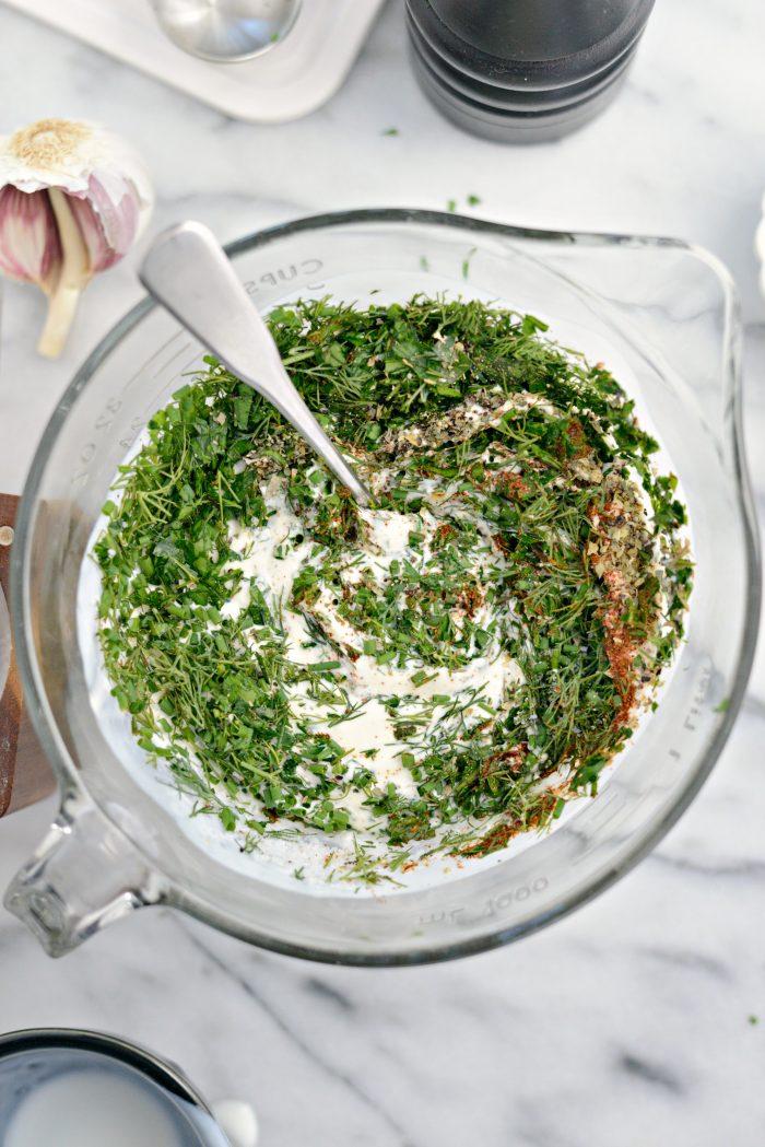 stir and combine