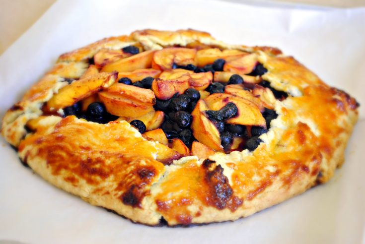 Rustic Blueberry Peach Galette