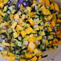 Mango and Cucumber Salsa
