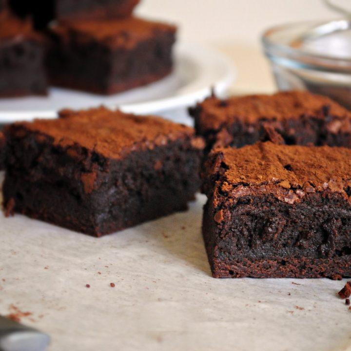 Spicy Chocolate Cayenne Truffle Brownies
