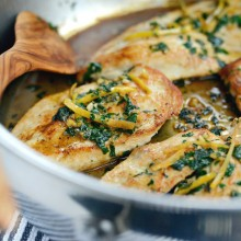 Seared Chicken Breasts with Lemon Herb Pan Sauce l SimplyScratch.com  (23)