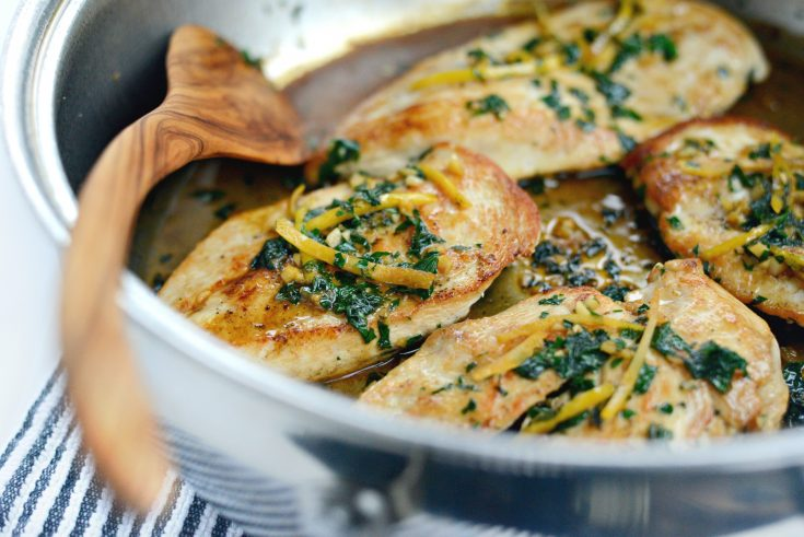 Seared Chicken Breasts with Lemon Herb Pan Sauce