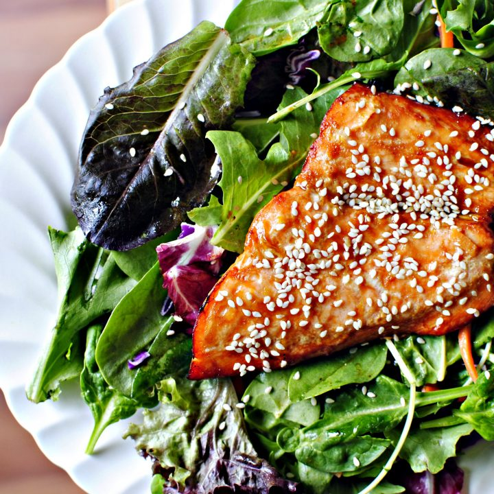 Orange Glazed Salmon Salad