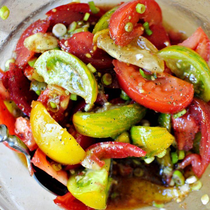 Balsamic Heirloom Tomato Salad