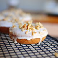 Banana Walnut Breakfast Doughnuts