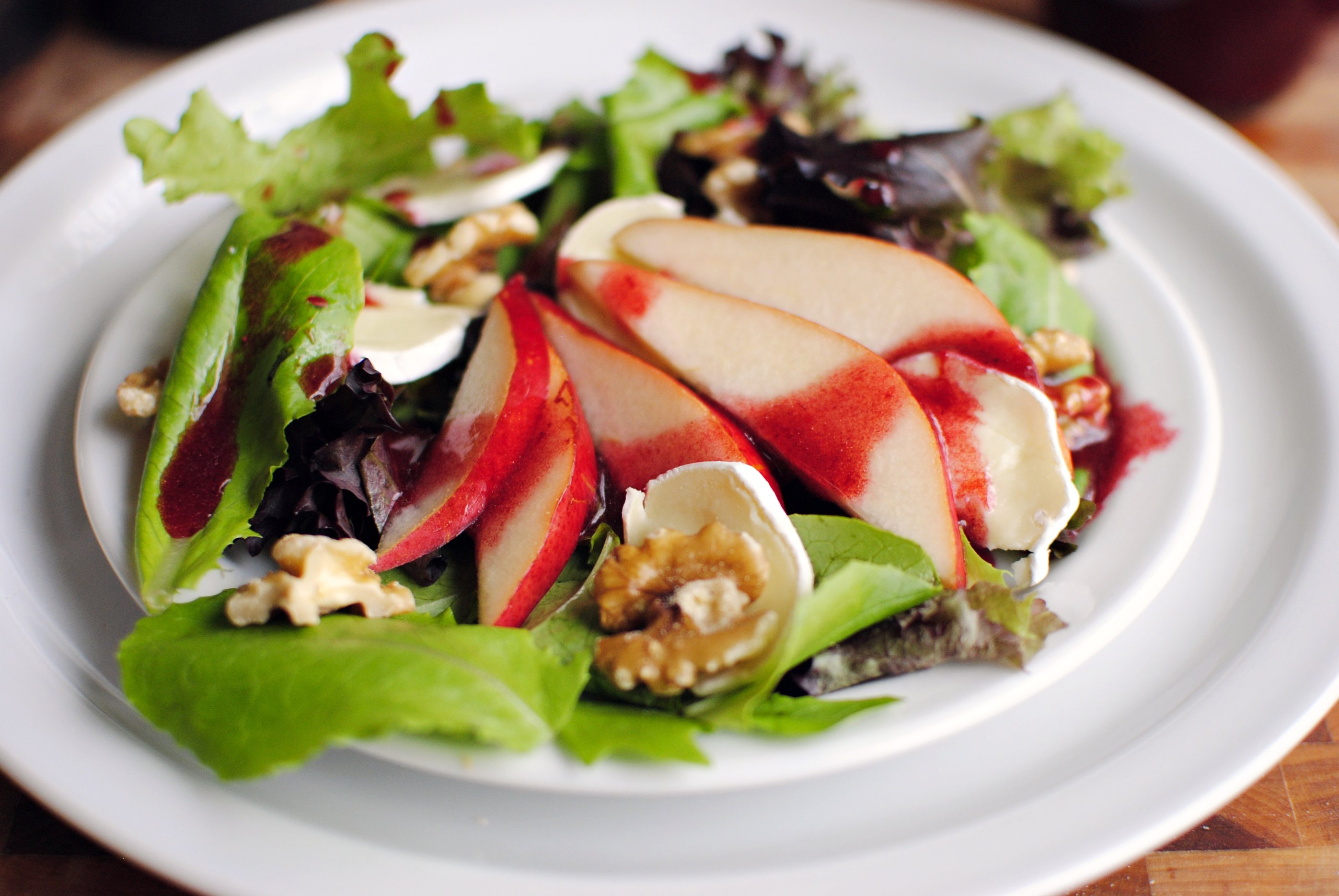 Simply Scratch Pear and Brie Salad with Blackberry Vinaigrette ...