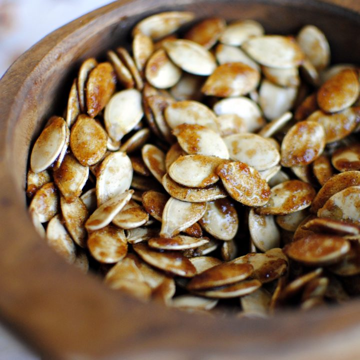 Sticky Sweet Pumpkin Seeds