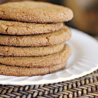 Giant Ginger Molasses Cookies