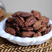 Mexican Hot Chocolate Toasted Pecans