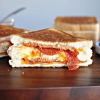 Grilled Double-Decker Pizza Sandwich