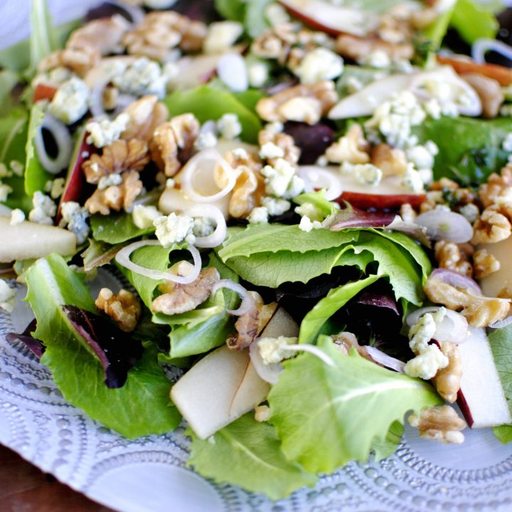 Pear Walnut Salad with Pear Vinaigrette