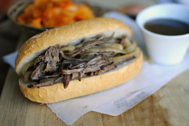 slow cooker french dip sandwiches l simplyscratch.com french dip2