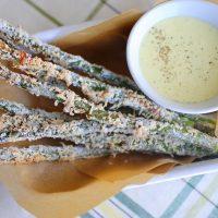 Parmesan Asparagus Fries with Lemon Garlic Aioli