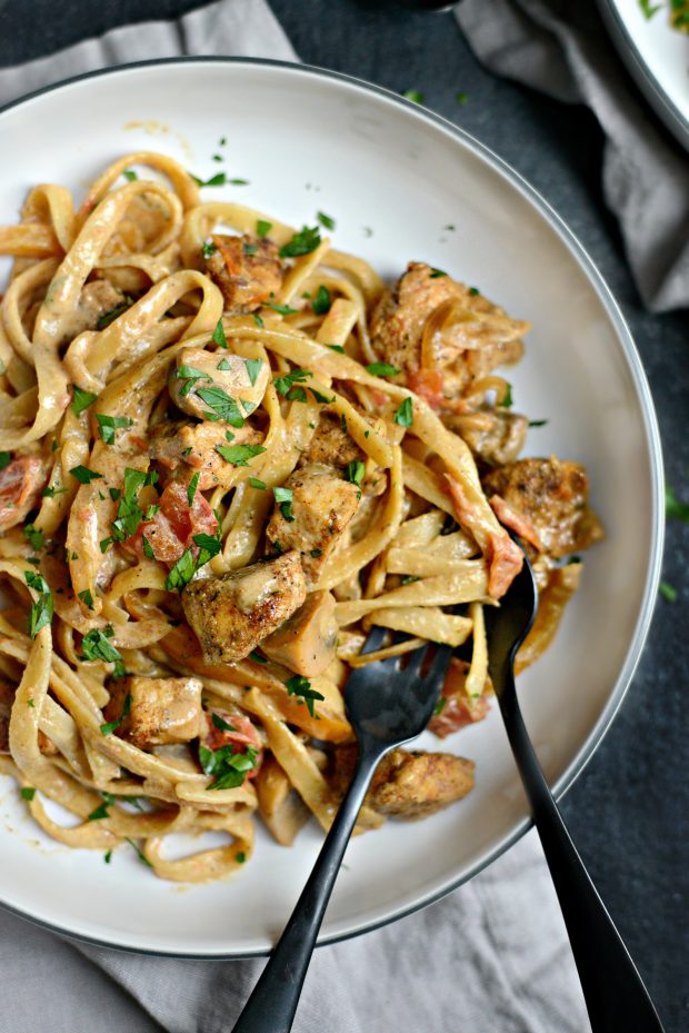 Cajun Chicken Pasta l SimplyScratch.com