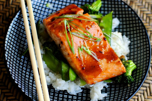 Honey-Teriyaki Glazed Salmon with Stir-Fry Veggies2