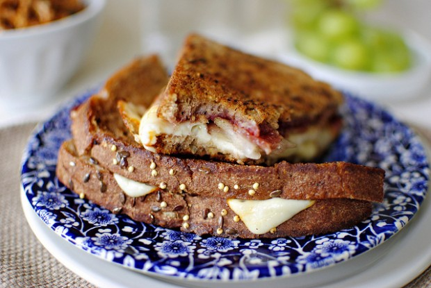 Bacon, Pear + Raspberry Grilled Cheese l SimplyScratch.com