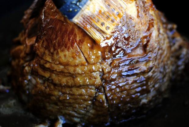 Orange Brown Sugar Glazed Ham l SimplyScratch.com