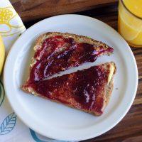 Mango Honey Butter and Raspberry Toast