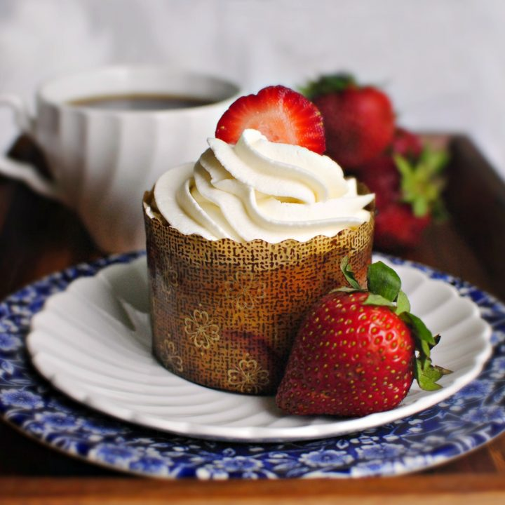 Strawberry & Lemon Mini French Yogurt Cakes
