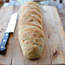 Easy Homemade French Bread l www.SimplyScratch.com