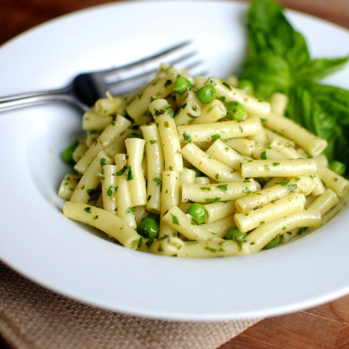 Lemon Basil Pesto Pasta