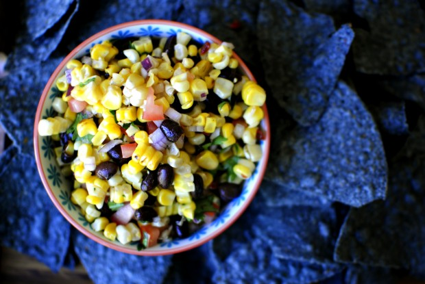 Grilled Corn Black Bean Salsa l SimplyScratch.com