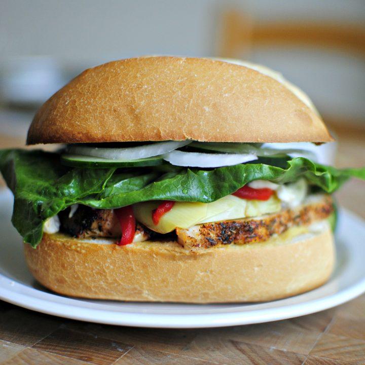 Toasted Mediterranean Sandwich