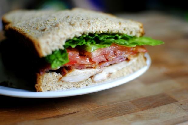Caesar BLT Club Sandwich l SimplyScratch.com