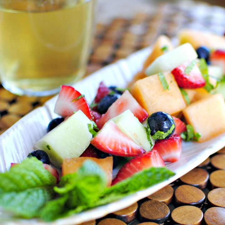 White Wine Drenched Fruit Salad