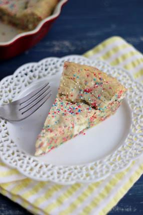 White Chocolate Confetti Cookie Pie Recipe
