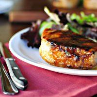 Grilled Maple Honey Glazed Pork Chops
