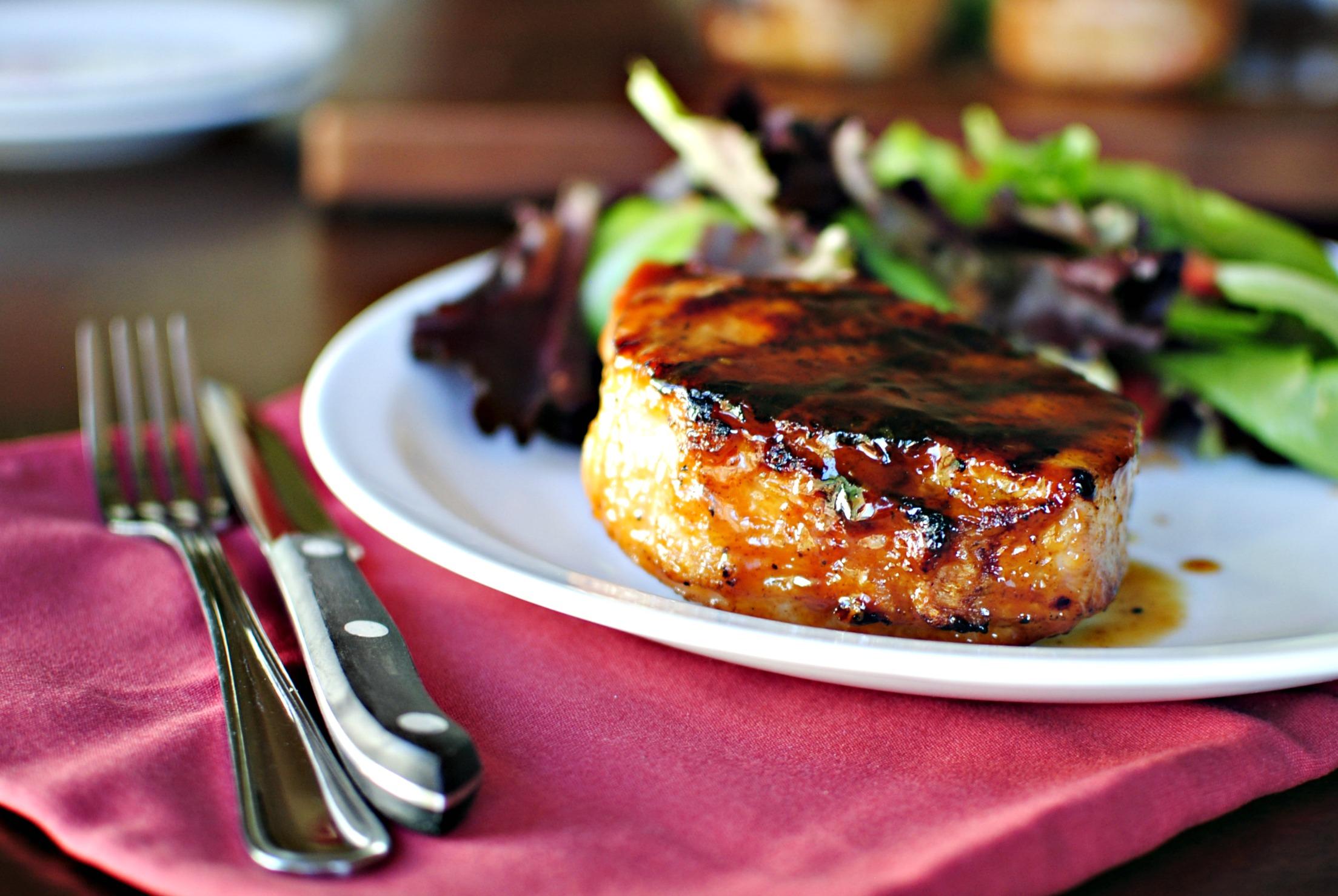 maple grilled pork chop recipe Grilled Maple Honey Glazed Pork Chops - Simply Scratch
