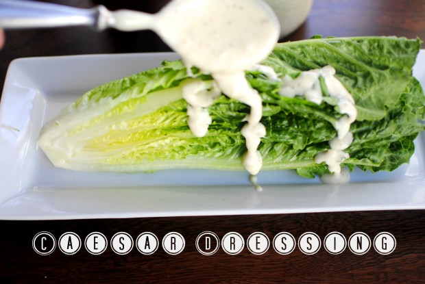 Caesar Romaine Wedge Salad l SimplyScratch.com